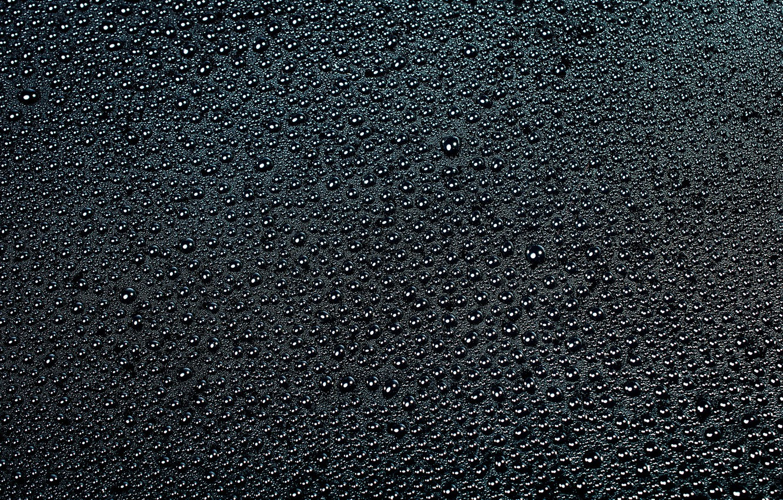 Photo wallpaper water, drops, surface, black