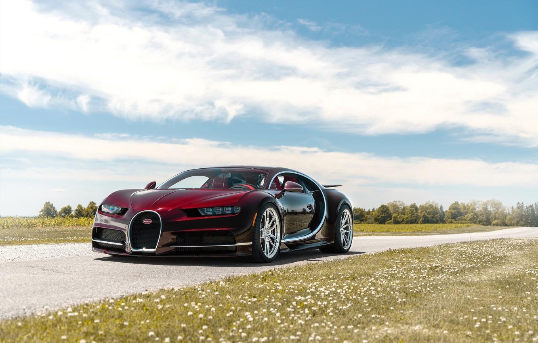 Photo wallpaper Bugatti, Road, Chiron, ANRKY