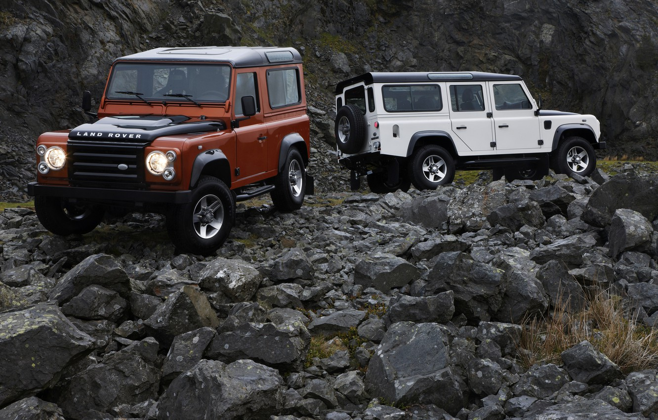 Photo wallpaper stones, Land Rover, 2009, Defender, Limited Edition