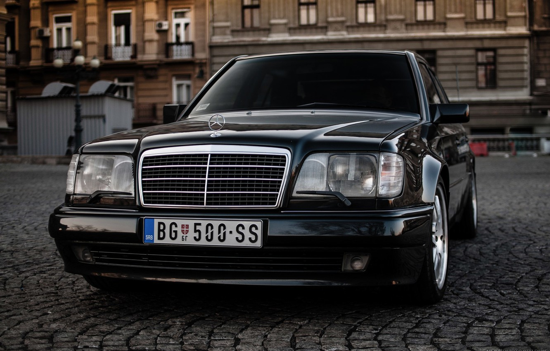 Photo wallpaper Mercedes, Benz, E500, W124