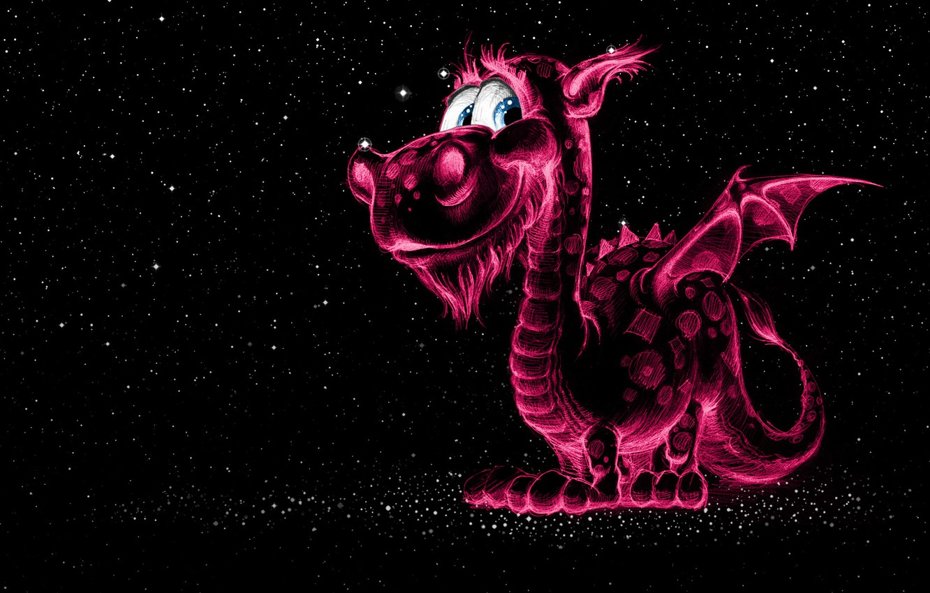 Photo wallpaper dragon, figure, Space, fantasy