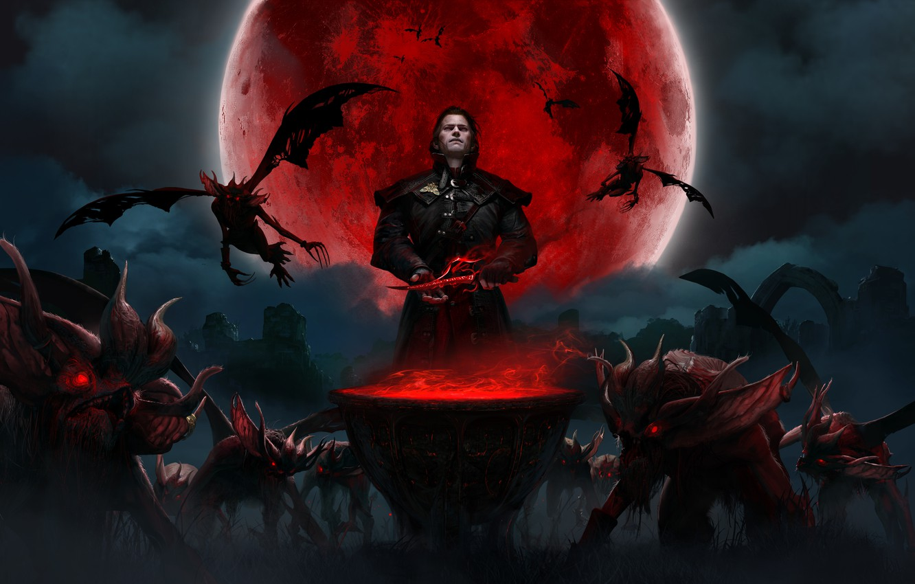 Photo wallpaper Vampires, Gwent, Quint, Gwent :The Witcher Card Game, Blood Moon, Quint: The Witcher. Card Game, …