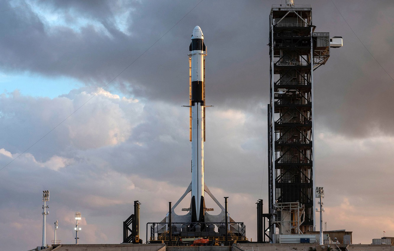 Photo wallpaper USA, USA, Dragon, Falcon, SpaceX