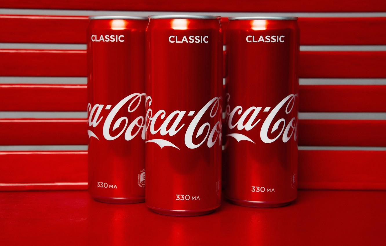 Photo wallpaper jars, drink, Coca-Cola, Coca-Cola