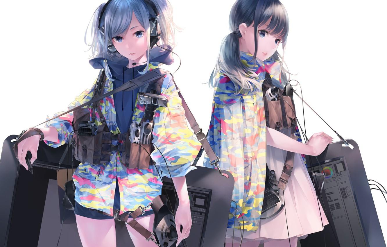 Photo wallpaper Girls, Technique, Jackets