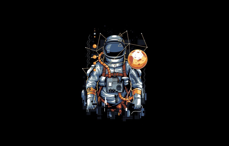 Wallpaper Moon Art Vector Background Illustration