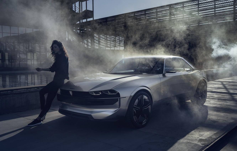 Photo wallpaper coupe, concept, Peugeot, the concept, Peugeot, electric, Peugeot e-Legend