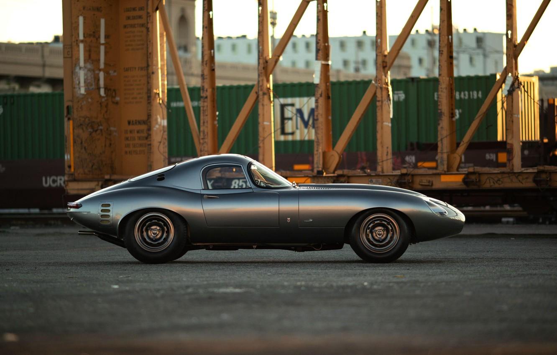 Photo wallpaper Jaguar E-Type, Sports car, Side view, Streamlined