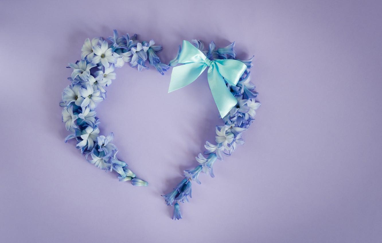 Photo wallpaper love, flowers, heart, love, heart, blue, flowers, romantic, forget-me-nots, floral