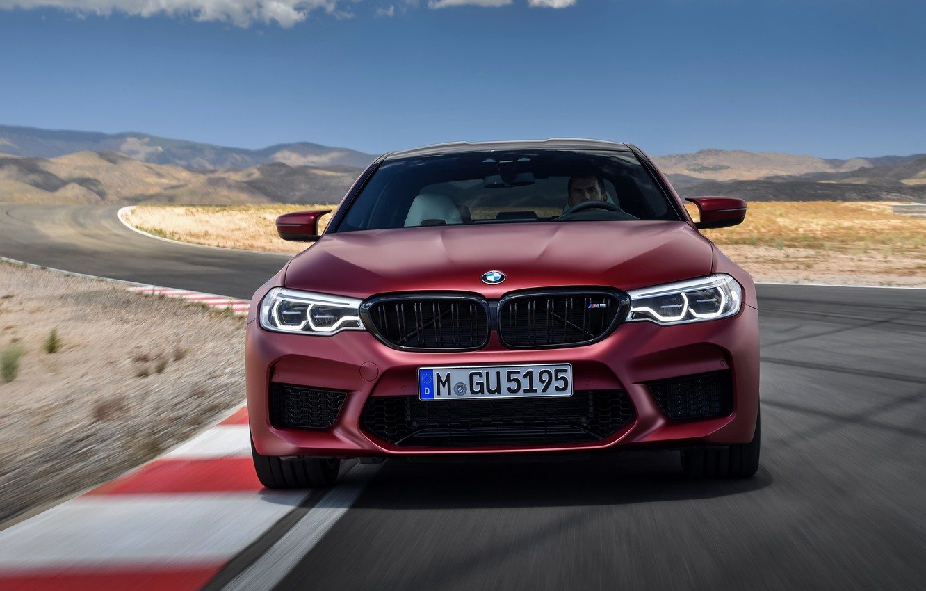 Photo wallpaper BMW, front view, 2017, M5, F90, M5 First Edition