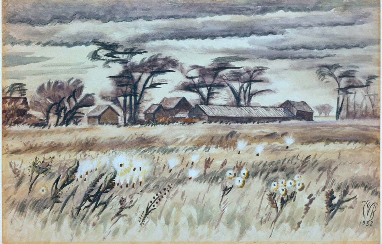 Photo wallpaper 1932, Charles Ephraim Burchfield, December Fields