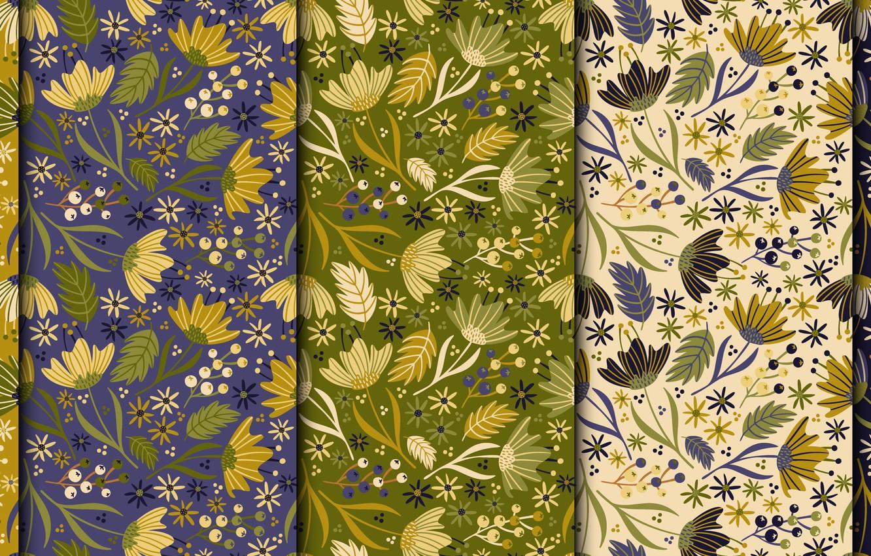 Photo wallpaper flowers, retro, background, vintage