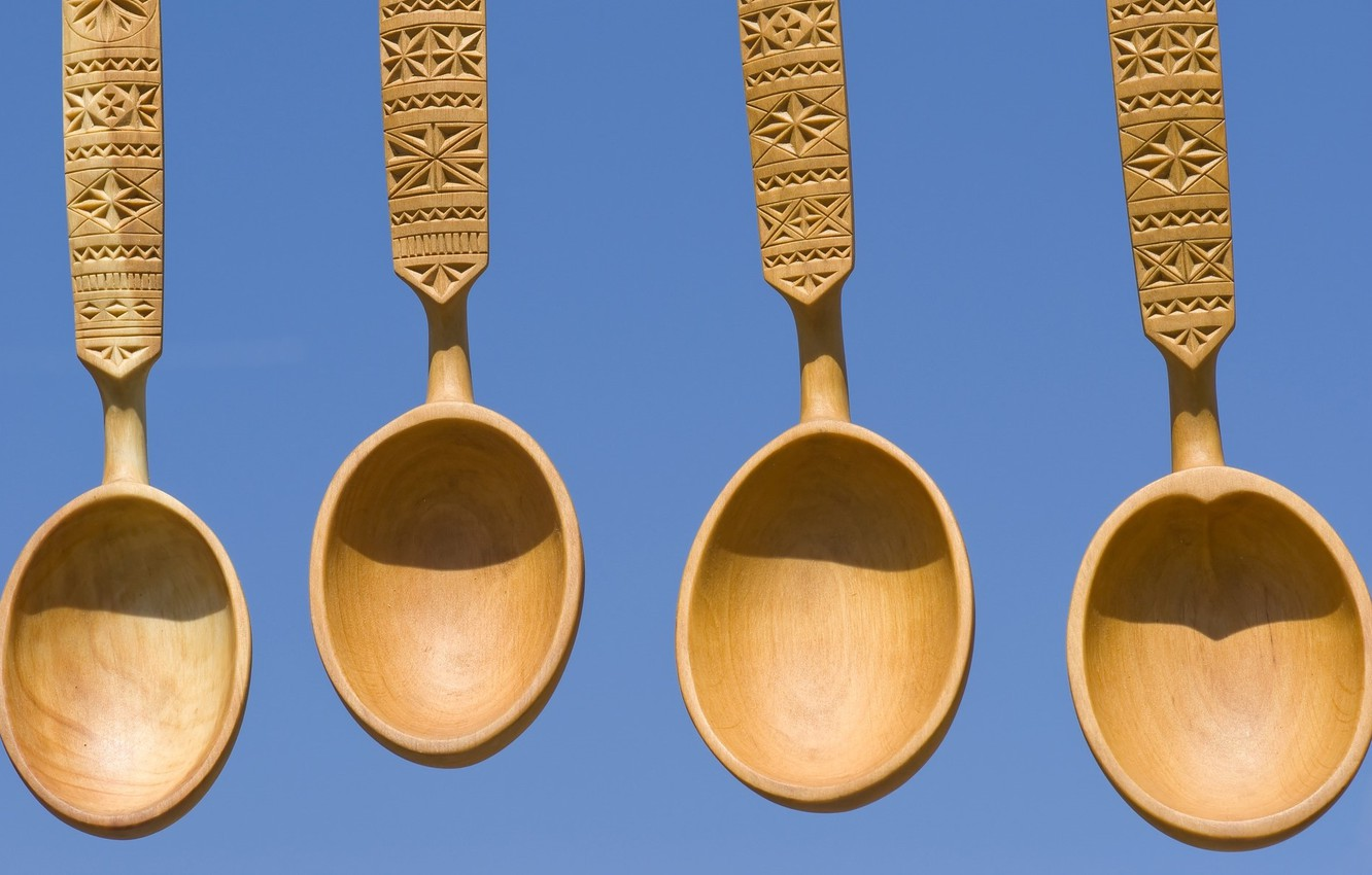 Photo wallpaper background, wooden, spoon