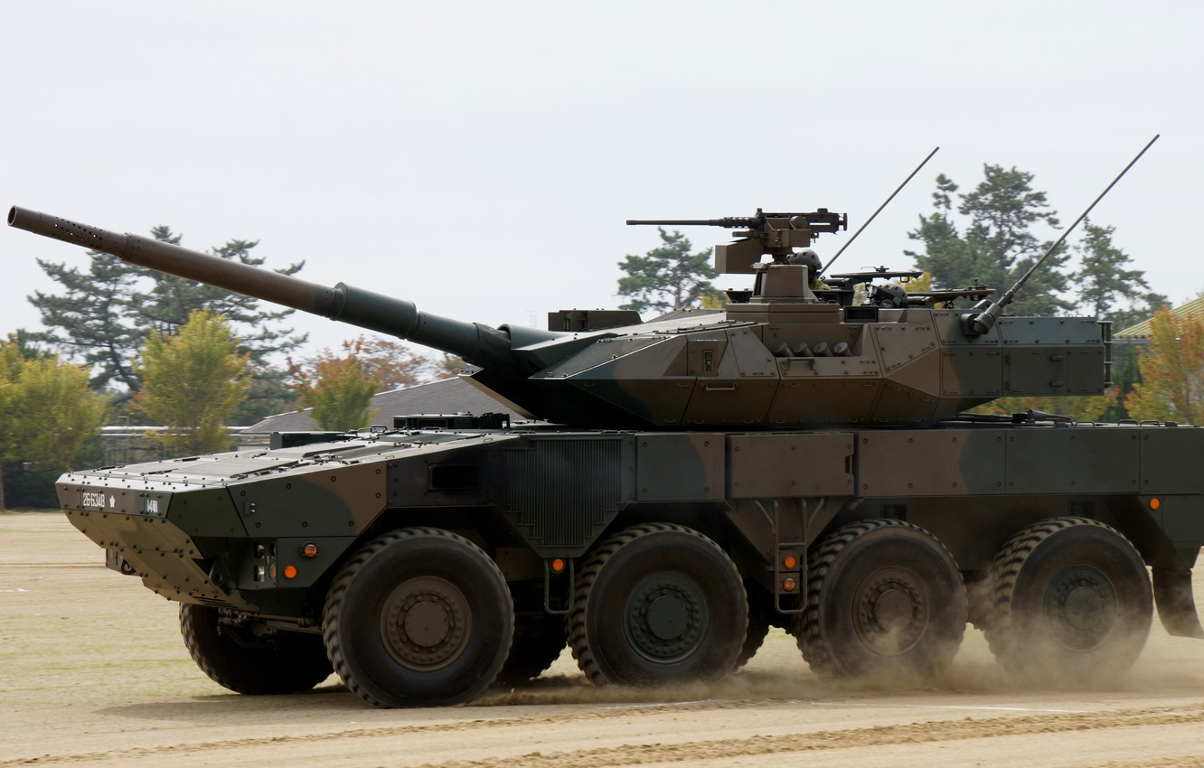 Photo wallpaper Japan, Japan, 105 mm, Mitsubishi Heavy Industries, The self-defense forces of Japan, Wheeled combat vehicle, …