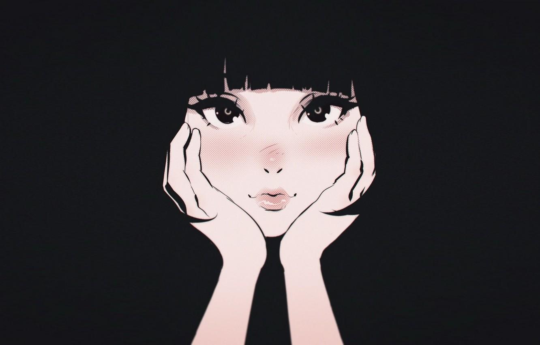 Photo wallpaper style, manga, face