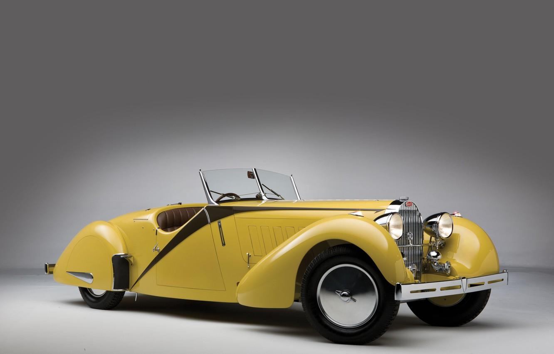 Photo wallpaper Bugatti, Lights, Classic, Chrome, 1935, Classic car, Gran Turismo, Radiator, Type 57, Bugatti Type 57 …