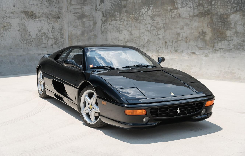 Photo wallpaper Classic, Black, Supercar, Ferrari F355 Berlinetta