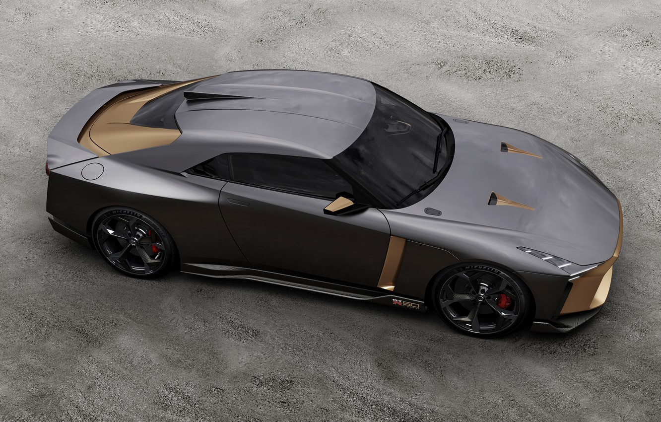 Photo wallpaper top, Nissan, 2018, ItalDesign, GT-R50 Concept