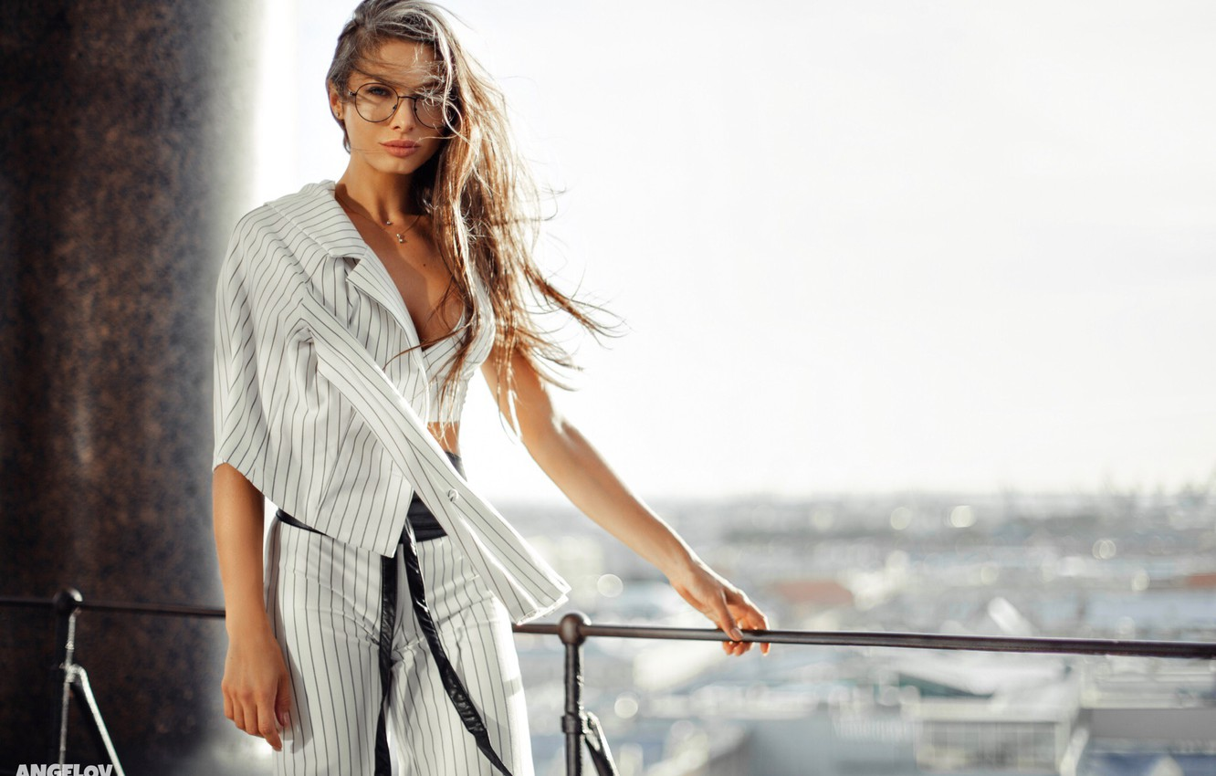Wallpaper Girl Pose The Wind Hair Glasses Costume Jacket Pants Daria Shy Eugene Angels Angelov Images For Desktop Section Devushki Download Dedicated to russian glamor and fitness model daria shy. wallpaper girl pose the wind hair