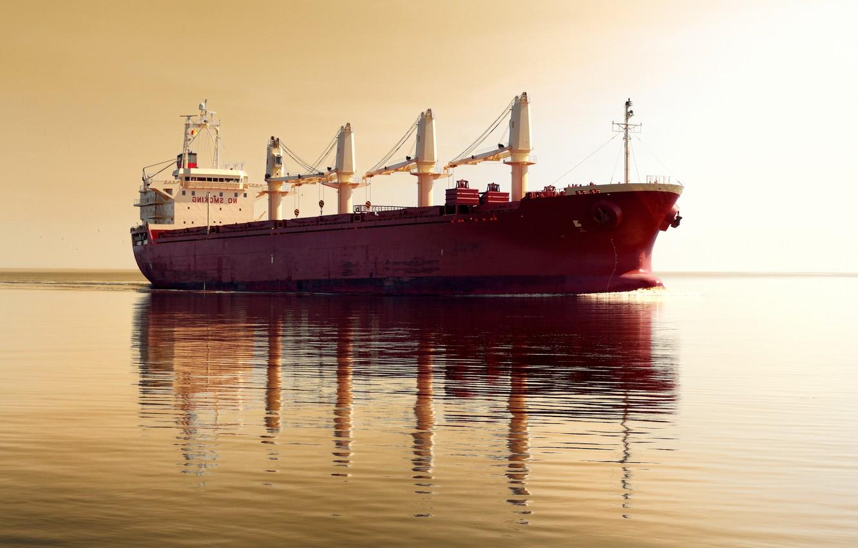 Photo wallpaper sea, ship, boat