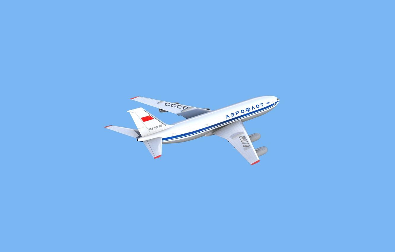 Photo wallpaper The plane, Liner, Board, USSR, Art, A passenger plane, Alex Stankevich, by Alex Stankevich, Soviet …