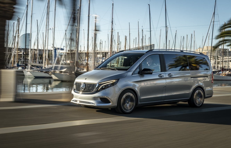 Photo wallpaper Boat, Mercedes, van, Mercedes-Benz Concept EQV