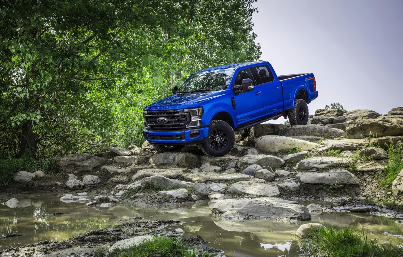 Photo wallpaper blue, Ford, pickup, Super Duty, F-250, Tremor, the water, 2020, Off-Road Package, F-series