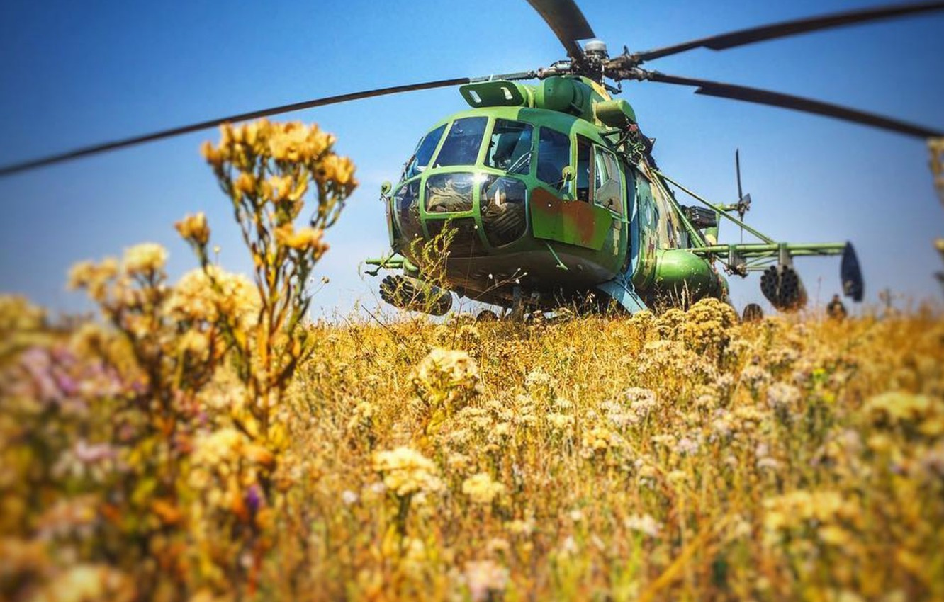 Photo wallpaper Helicopter, Mi-8, Ukraine Air Force, ATO