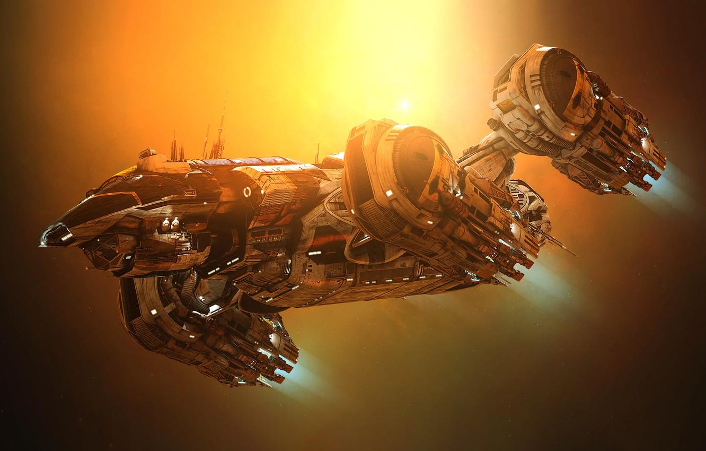 Photo wallpaper Space, Ship, Art, Space, Art, Spaceship, Fiction, Aliens, Prometheus, GrahamTG, Spaceship, Sci-Fi, Science Fiction, Space, …