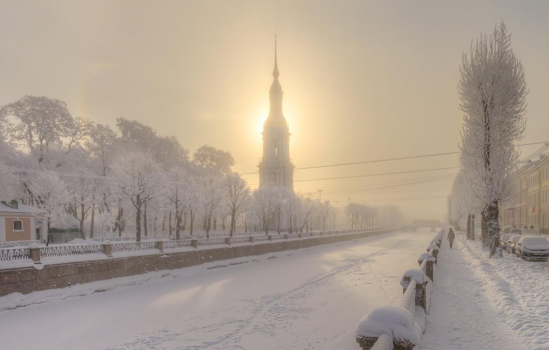 Photo wallpaper Saint Petersburg, Eduard Gordeev, Kryukov canal, winter magic