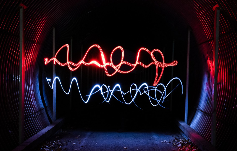 dark, light, lines, tunnel, abstraction