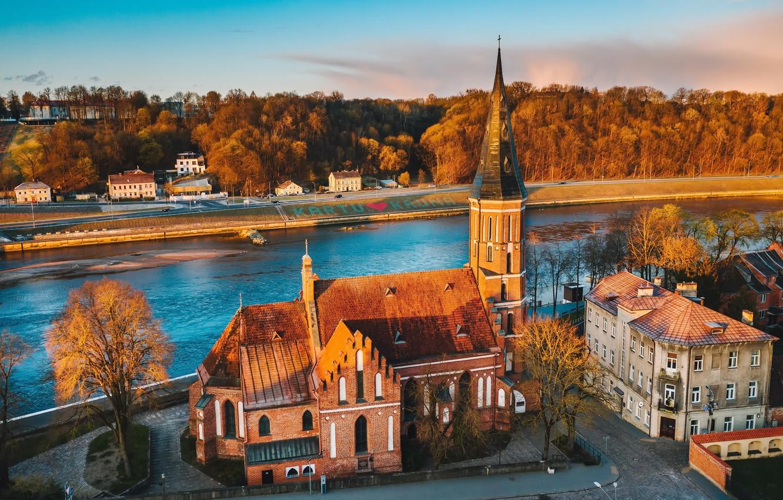 Photo wallpaper Lithuania, Kaunas, Vytautas Church