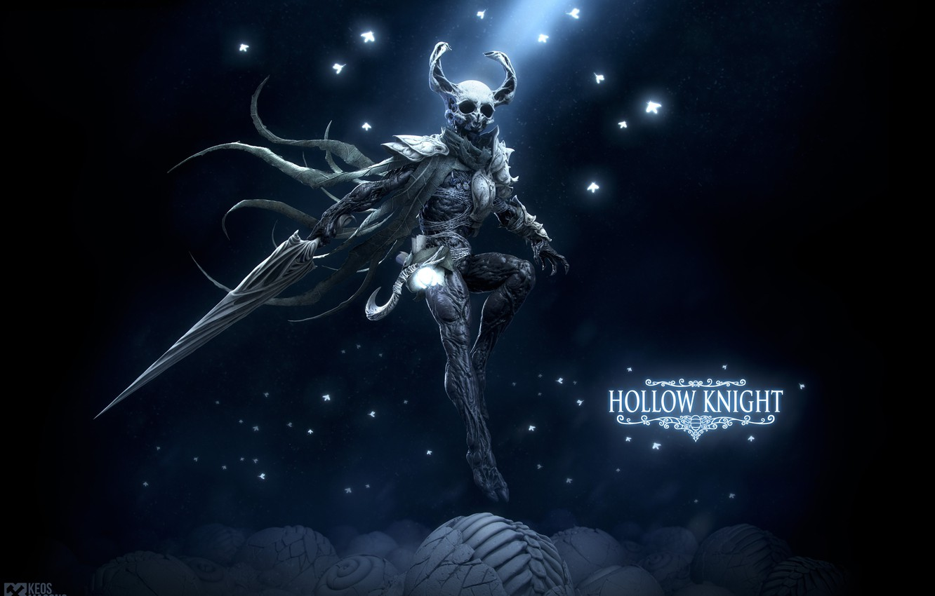 Photo wallpaper sword, being, Hollow Knight, Keos Masons