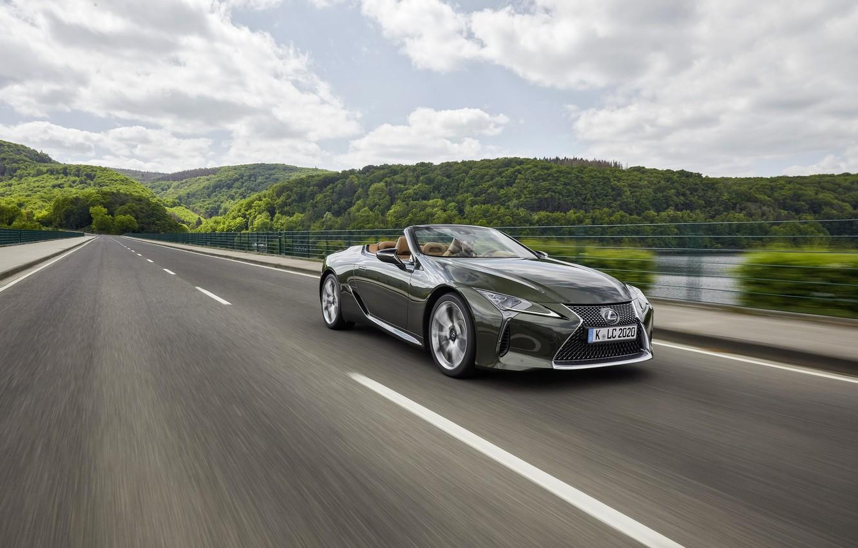 Photo wallpaper markup, Lexus, convertible, 2021, LC 500 Convertible
