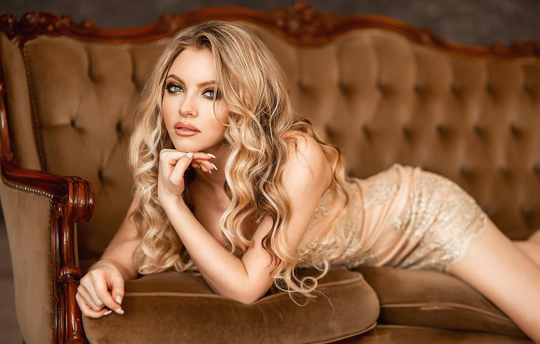 Photo wallpaper hot, blonde, pose, A Diakov George