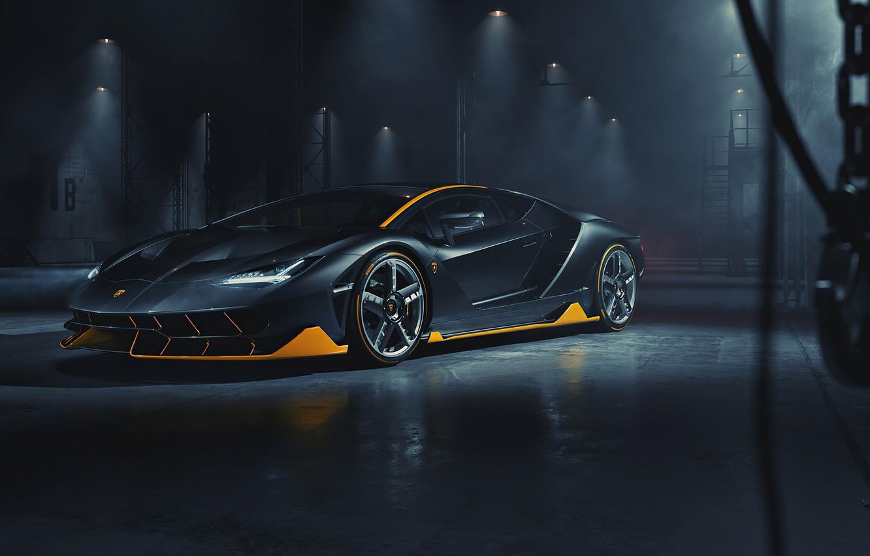 Photo wallpaper the dark background, Lamborghini, car, Centennial