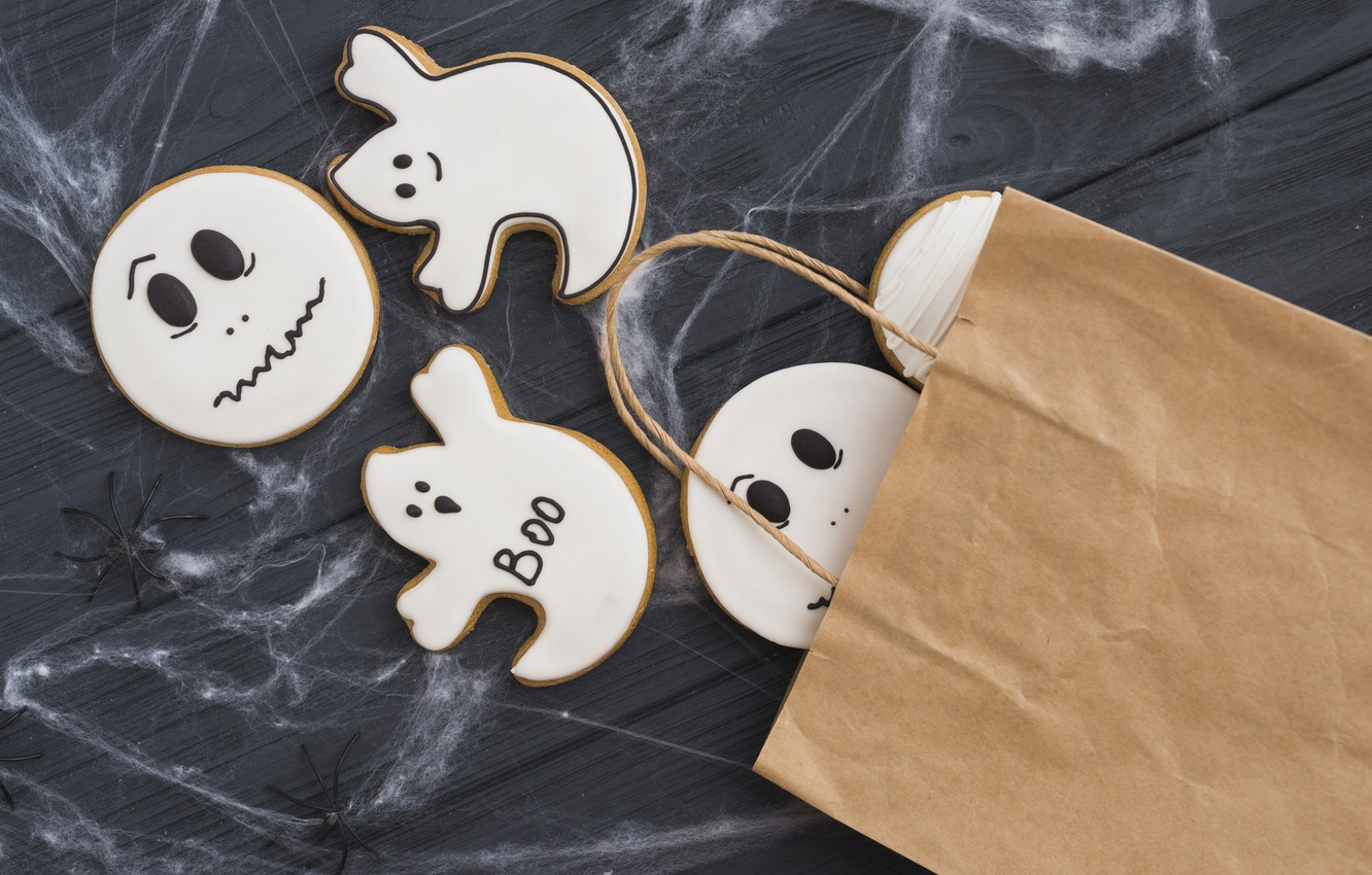 Photo wallpaper Halloween, Holiday, cakes, Cookies