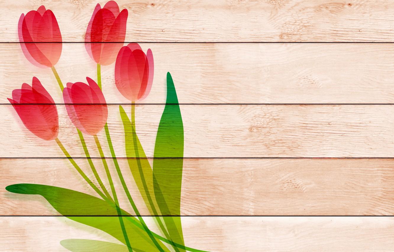 Photo wallpaper flowers, Board, tulips, postcard, template, blank