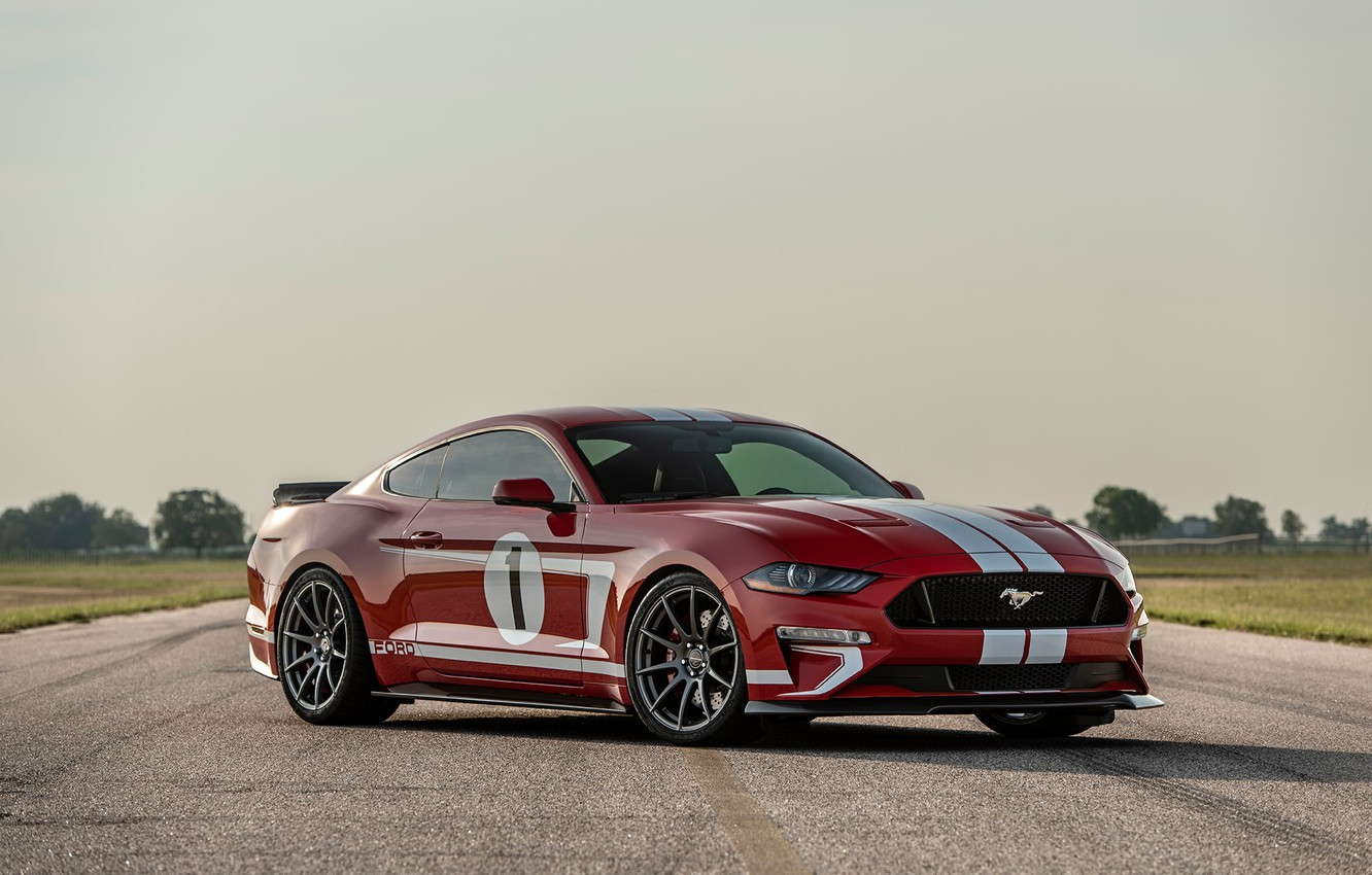 Photo wallpaper Mustang, Ford, 2018, Hennessey, Edition, Heritage, 808 HP
