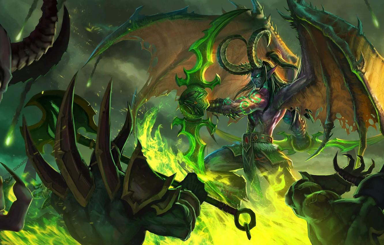 Wallpaper The Game Battle Illidan The Demon Wow Stormrage