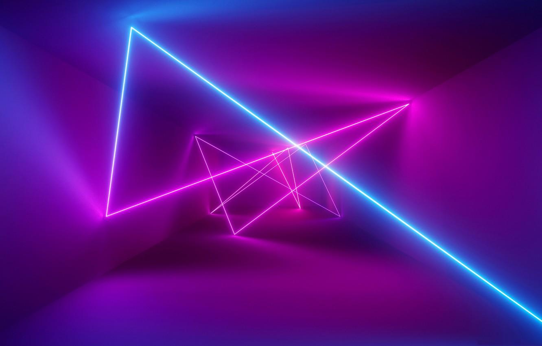 Photo wallpaper pattern, ray, laser, the volume