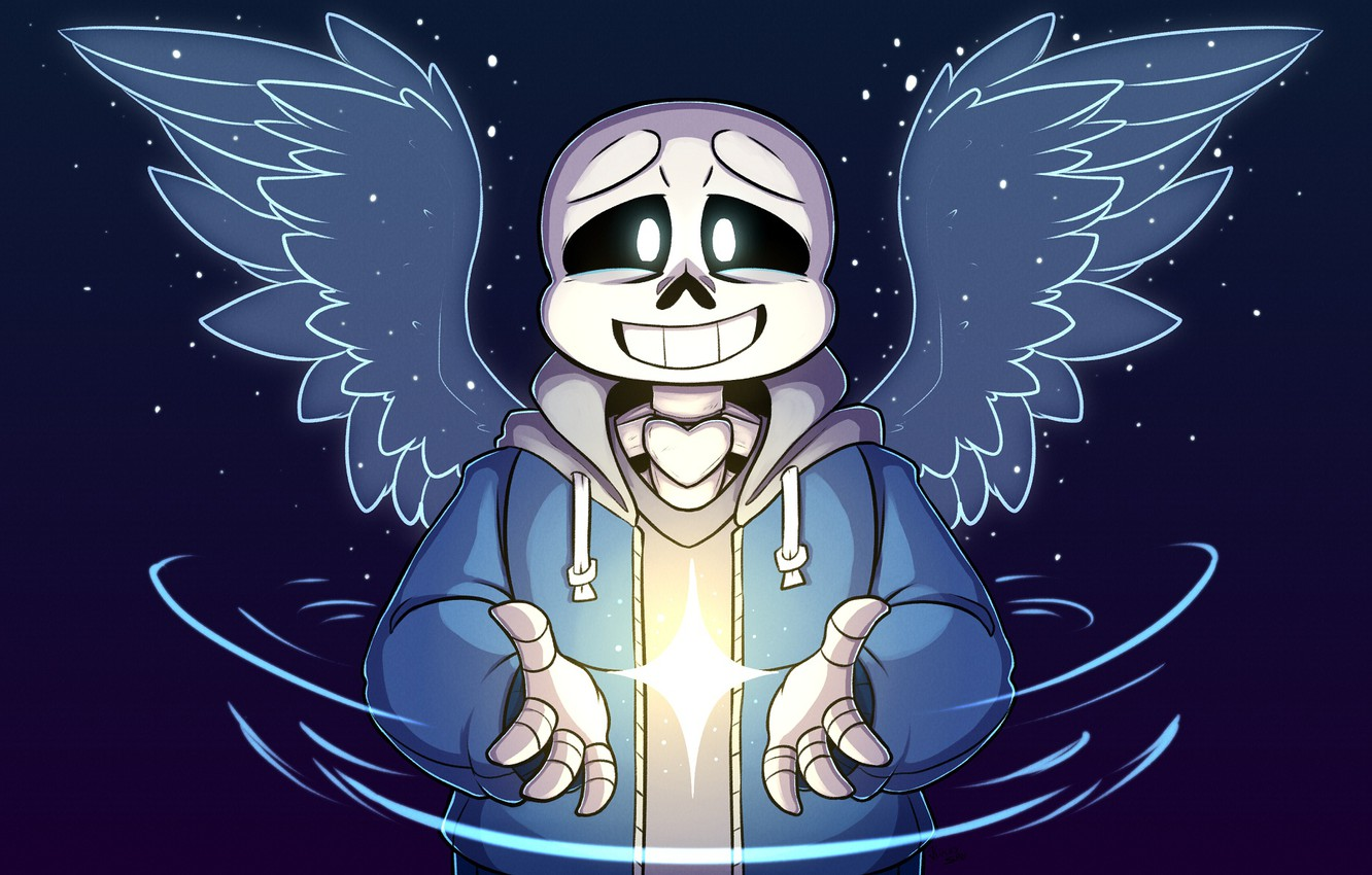 Wallpaper smile, the game, Undertale, Sans, Undertail images for