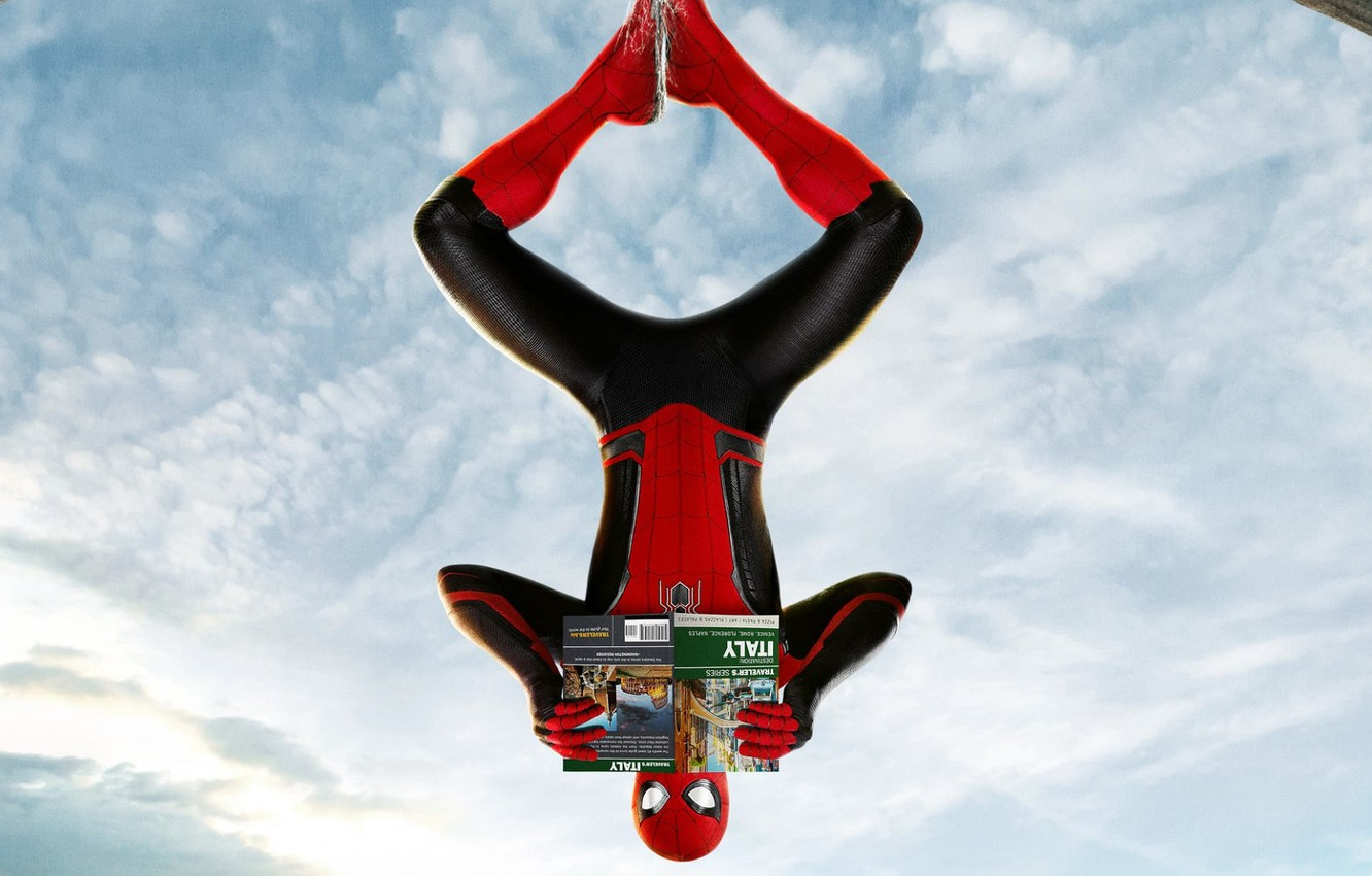 Wallpaper The Sky Clouds Web Italy Costume Spider Man