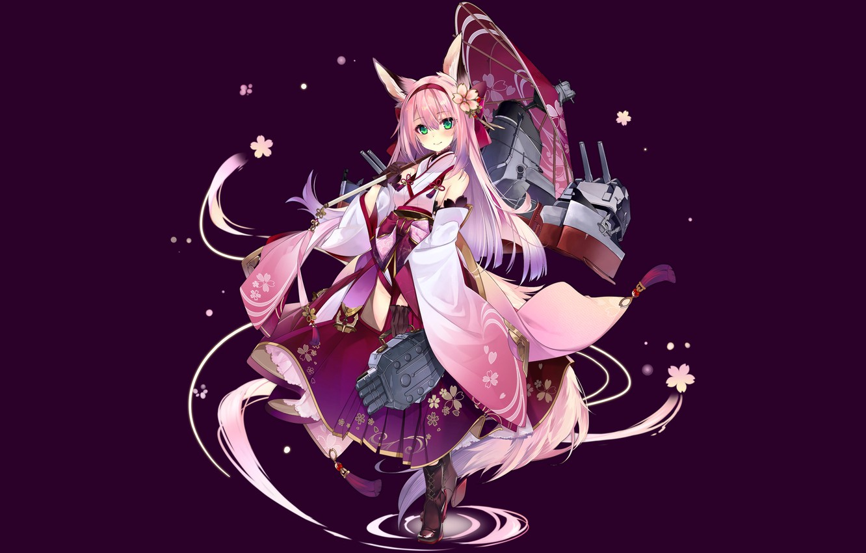 Photo wallpaper girl, pink hair, long hair, anime, beautiful, pretty, attractive, handsome, Azur Lane, Hanazuki