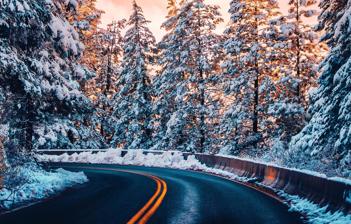 wallpaper winter road forest light snow trees winter images for desktop section priroda download wallpaper winter road forest light