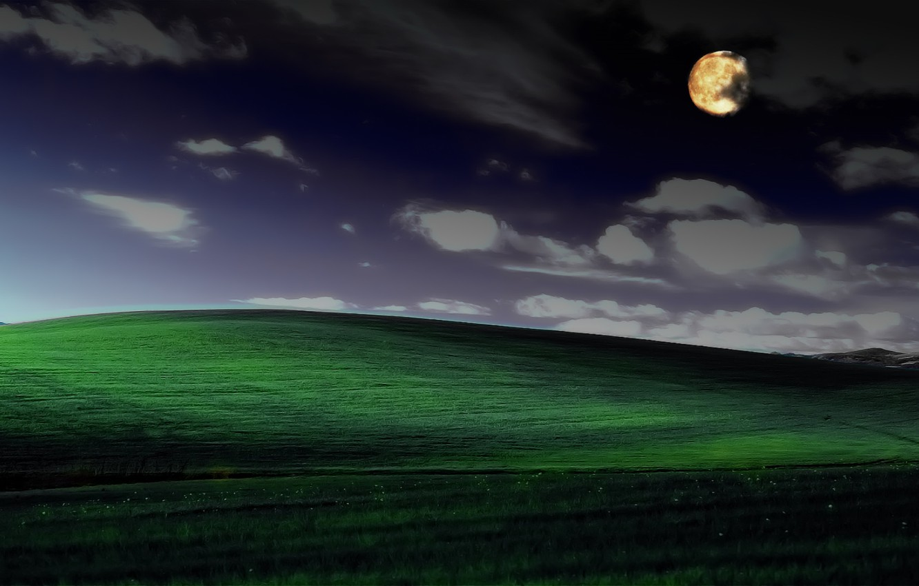 Wallpaper Night Serenity Photoshop Windows Xp Famous