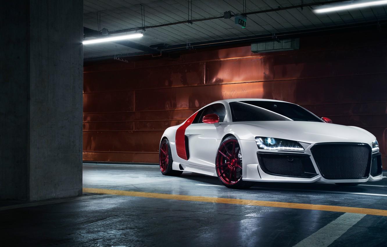 Photo wallpaper supercar, Audi R8, tuning