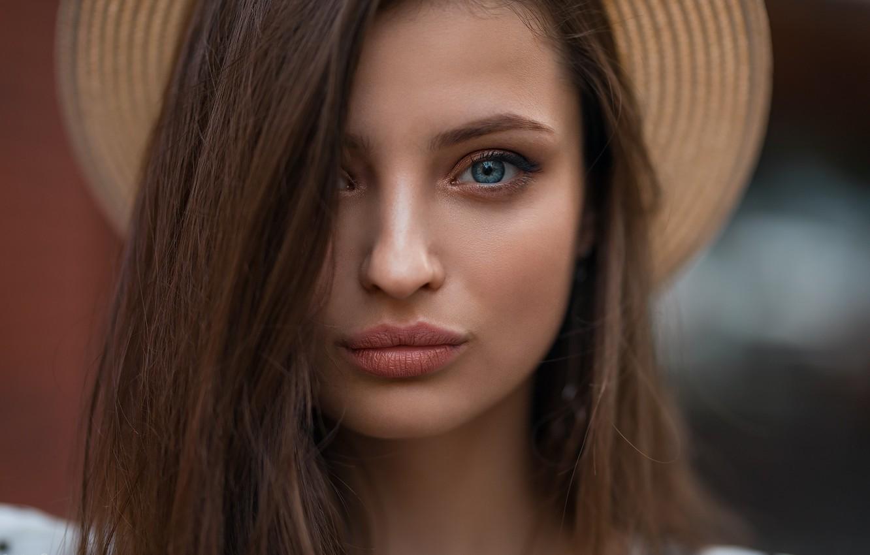 Photo wallpaper look, Girl, hat, Dmitry Shulgin, Veronika Avdeeva