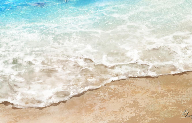Photo wallpaper sea, wave, beach