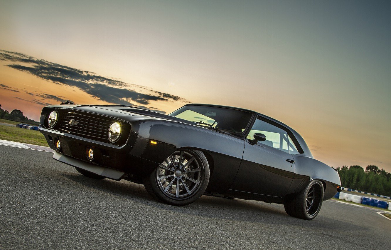 Photo wallpaper Chevrolet, Camaro, Wheels, '69, Forgeline, Dropkick
